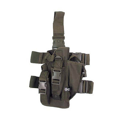 Large Tactical Drop Leg Holster & Pistol Pouch Airsoft Army Green Mfh 30711b