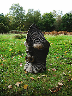 African Sonye mask wooden carved congo large antique tribal central africa tribe