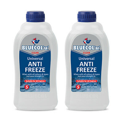 2 x Bluecol U Clear Universal Top Up Antifreeze Coolant All Makes All Models