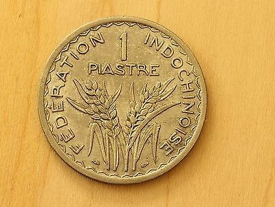 1947 French Indo China 1 Piastre very nice high grade