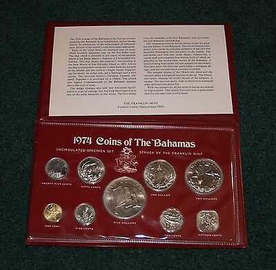 1974 Bahamas Mint Set - In original mint packaging