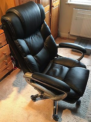 Office chair-Black leather
