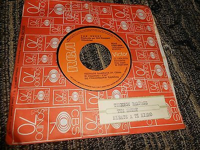 "THE SWEET Teenage Rampage/Mirate a ti mismo 7"" 1974 SPAIN jukebox PROMO"