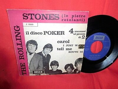 THE ROLLING STONES Il disco Poker 4 tracks 45rpm 7' + PS 1964 ITALY MINT- Purple