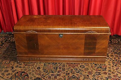 Vintage Antique Art Deco  Cedar Chest Trunk