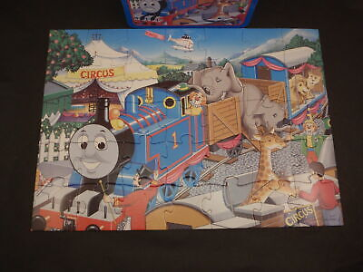 Thomas the Tank Engine & Friends Circus Friends Puzzle w/ Tin Lunchbox