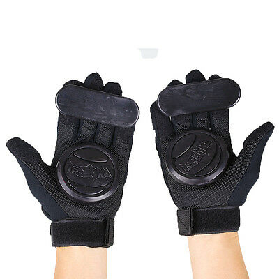 Pair Skateboard Freeride Grip Protective Gloves Longboard with Foam Palm Adult