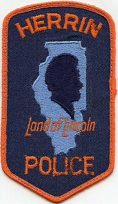 old vintage HERRIN ILLINOIS IL POLICE PATCH