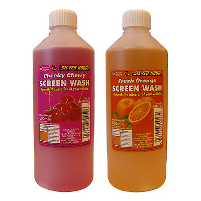 Silverhook ORANGE + CHERRY Scent Car Windscreen Screen Wash Concentrate Cleaner