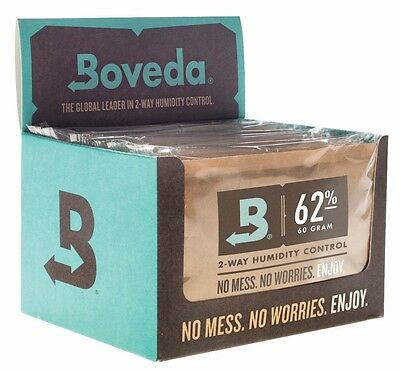 Boveda 62% RH 2-way Humidity Control, Large 60 gram, 12-pack, individually wrapp