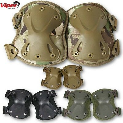 Viper Hard Shell Knee Pads Mens Unisex Armour Paintball Airsoft Padding Workwear