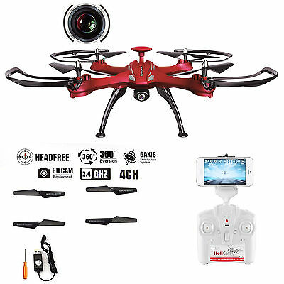 Explorer 6-Axis Quadcopter Drone WIFI HD Camera FPV RC Drone Helicopter 360° UK