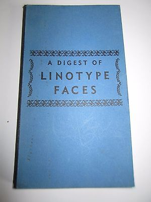 (1935) A DIGEST of Linotype Type Faces. Mergenthaler co Brooklyn vintage SC book
