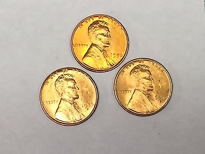 1coin LOT CH//GEM BU RED LINCOLN WHEAT CENT PENNY 1940/'s /& 1950/'s PENNIES
