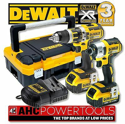 DeWalt DCK250M2BT Brushless XR Kit DCD795 Combi Drill & DCF886 Impact 4.0AH