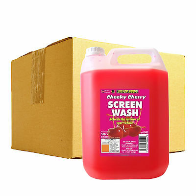4 x Silverhook CHERRY Scent Car Windscreen Screen Wash Concentrate Cleaner 5L