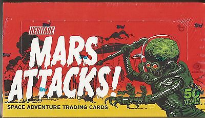 2012 Topps Mars Attacks Heritage Trading Cards Box -1 Sketch Card Per Box
