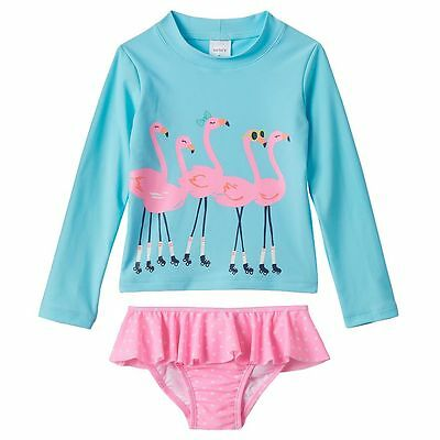 New Carter's Toddler Girl Flamingo Rashguard Swim Set 4T