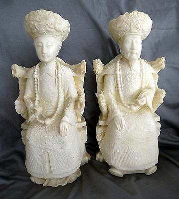 Vintage Antique Asian Oriental Ivorine Celluloid French Ivory Figures