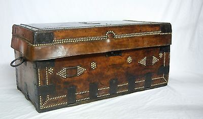 Eighteenth Century Napoleonic Period Leather Campaign Trunk By Thomas Griffith