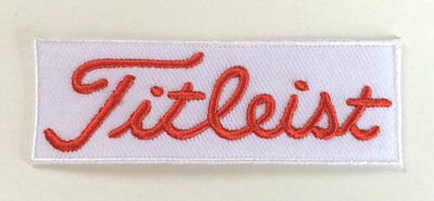 Golf Patch White Red Embroidered Iron / Sew on Badge Applique Quality FREE POST!