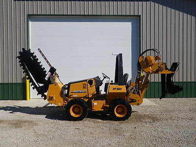 2007 Astec RT560 Trencher Vibratory Plow Ditch Witch Vermeer Case 125 Actual Hrs