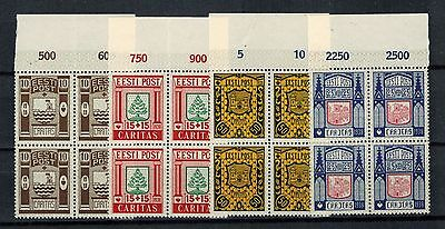 Estonia 1937, Sc B36-B39, BLOCKS 4, MNHOG, CV $160.