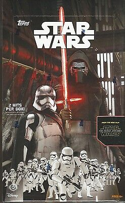 2015 Topps Star Wars: The Force Awakens Series 1 Hobby Box -2 Hits Per Box