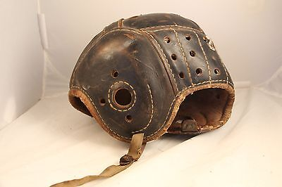 Antique Leather Rawlings Football Helmet