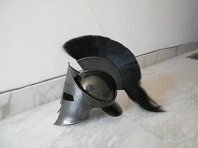 300 Spartan Movie Black Antique Fniesh~Leonidas 300 Spartn~Helmet Black Plum.