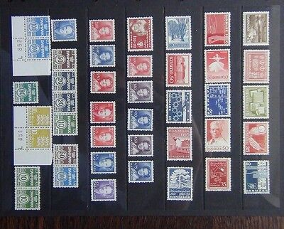 Denmark 1963 1990 issues ITU IYC Music FFH EFTA Monuments Disabled sets etc MNH