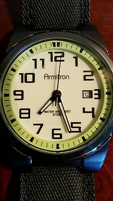 Vintage Armitron Watch..., large face, numbers, glow in the dark