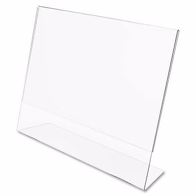 "Dazzling Displays 25 Acrylic 6"" x 4"" Slanted Sign Holders"