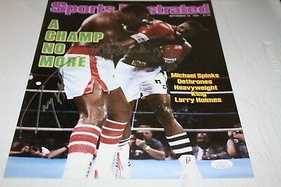 1986 Heavyweight Fight LARRY HOLMES vs MICHAEL SPINKS Glossy 8x10 Photo Poster