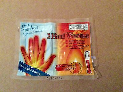 2 Pack Of Hand Warmers - Sports Camping Hiking Snow Ice - 7 Hour Instant Heat