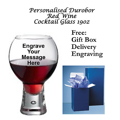 Personalised Durobor Alternato 780/52 54cl-19 oz  Red Wine/Cocktail Glass + Box