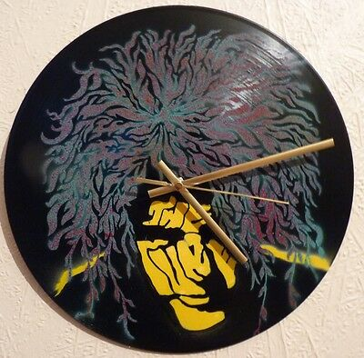THE CURE inspired clock ,JESUS AND MARY CHAIN,STIFF LITTLE FINGERS.SEX PISTOLS,
