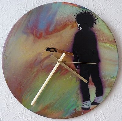 THE CURE inspired clock ,JESUS AND MARY CHAIN,THE DOORS.FRANK ZAPPA.SEX PISTOLS