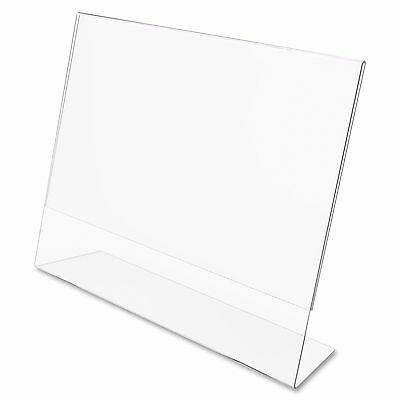 "Dazzling Displays 50 Acrylic 6"" x 4"" Slanted Sign Holders"