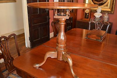 Tea table Tilt-Top American birdcage Elm C.1800