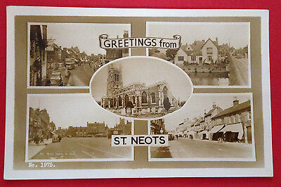 Huntingdonshire - Greetings from St. Neots Multi-View RP PC Publ. Bell PM Unclea