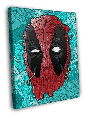 Deadpool Comic Cool Art Artwork WALL FRAMED CANVAS PRINT