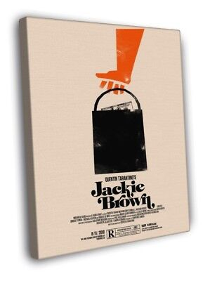 Jackie Brown Movie Quentin Tarantino Artwork WALL FRAMED CANVAS PRINT