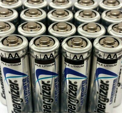 24 Pcs Energizer Aa Ultimate Lithium 1.5V Battery Aa 4X Size L91 Fr6 2036
