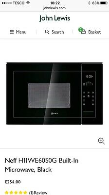 Brand New Boxed Neff Microwave Oven (John Lewis)