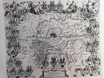 1640 Antique Map Of The Territory Of Frankfort - Blaeu - Frankfurt  Reproduction