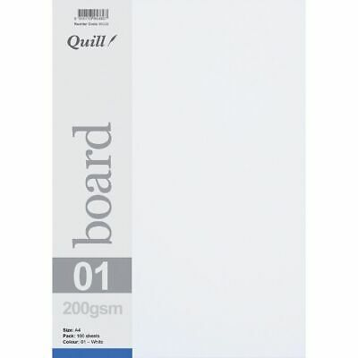 Quill A4 200gsm Board White 100 Pack