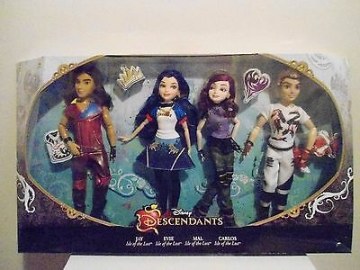 Disney Descendants Villains 4-Pack Mal Evie Jay & Carlos dolls Brand New