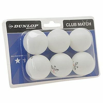 Outdoor Table Tennis Balls Dunlop x6 Balls
