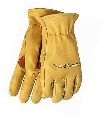 Town & Country Medium Superior Leather Lined Gardening Gloves for Men